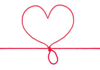 Heart shape rope
