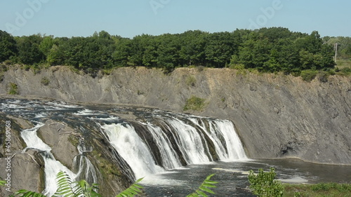 Wild waterfall in Cohoes, New York