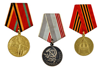 three military medals