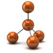 Orange molecule icon