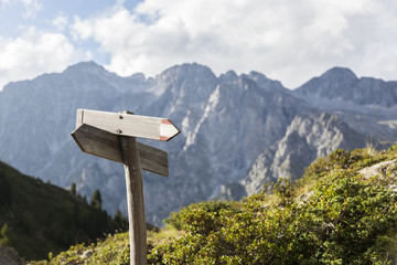 Hiking route indicator.
