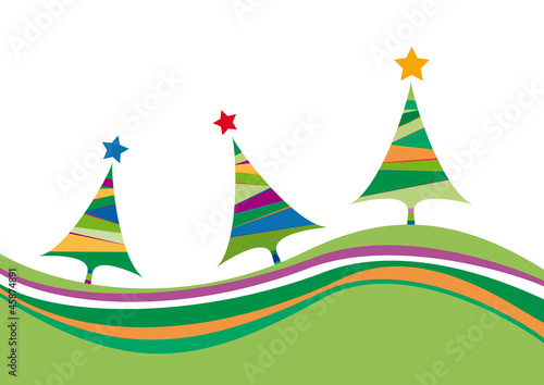 Vector Christmas colored background