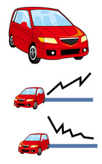 車,信号,旅行,買物,グラフ,輸出,輸入