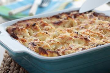 Kohlrabi and potato gratin