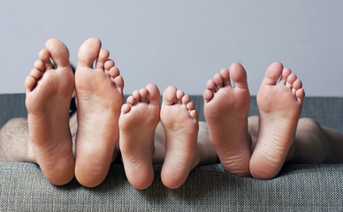 Close-up of human soles
