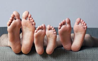 Close-up of human soles