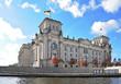 Reichstag in Berlin von der Seite