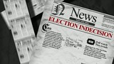 Newspaper headlines Election indecison candidate animation video poster