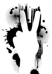 Vector hand concept