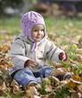 niemowlę w jesieni
