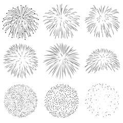 Feuerwerk, Raketen, Explosion, Silvester, Neujahr, Silhouetten