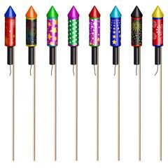 Raketen, Silvester, Neujahr, Design, Feier, Fete, Party, Fest