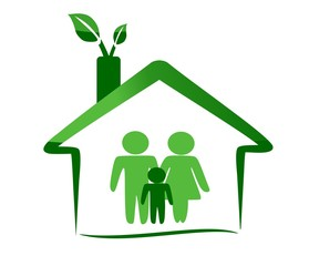 Ecological house and family
