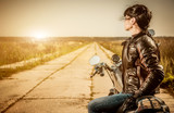Fototapety Biker girl