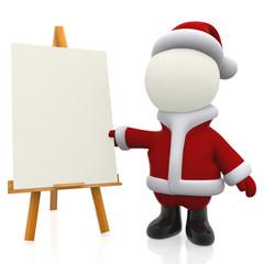 3D Santa painting