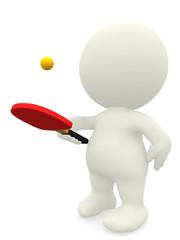 3D man playing ping pong