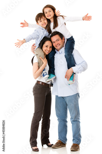 Family looking very happy