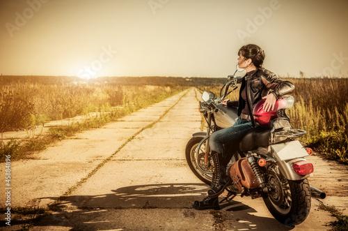 Biker girl - 45884896