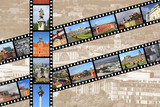 Warsaw film strips - travel memories