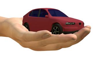 VENDERE UN AUTO - MANO - 3D