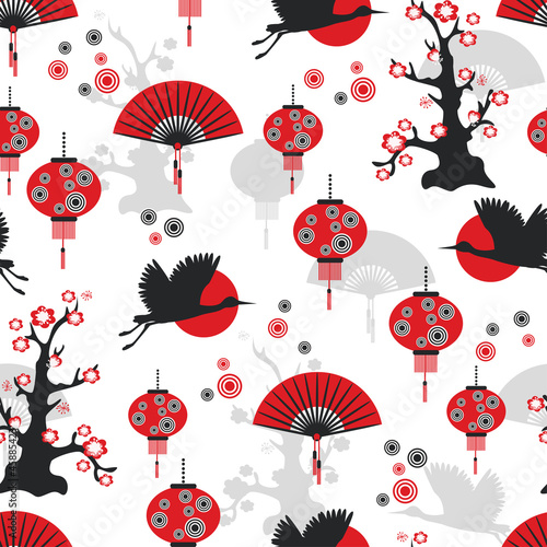 East seamless pattern