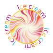 Ice cream top vector background