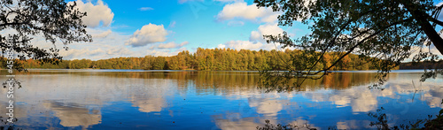 canvas print picture Liepnitzsee Panorama