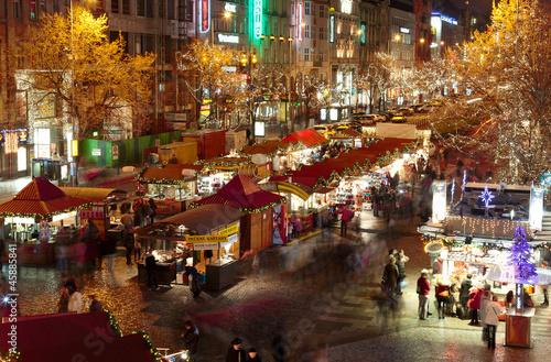 Aluminium Praag Christmas Markets in San Venceslao Square - Prague