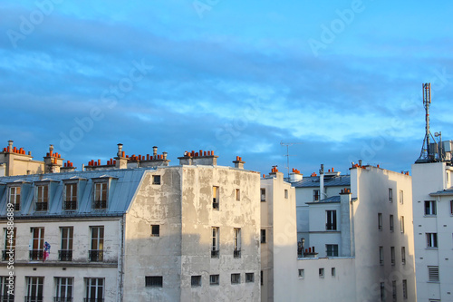 HDR photograph of Parisian roofs