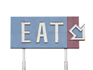 Vintage Eat Arrow Sign