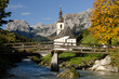 canvas print picture - Kirche in Ramsau