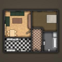 Grundriss einer Wohnung