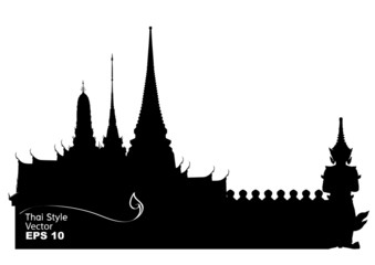 Vector illustration of Bangkok royal palace