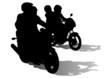 Motobike and people