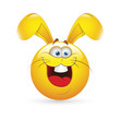 Smiley Emoticons Face Vector - Easter Bunny