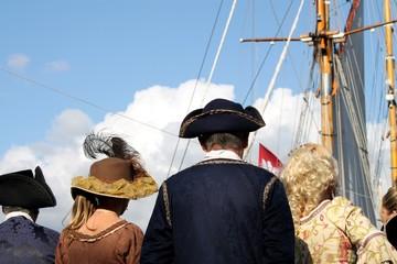 Reconstitution historique au port