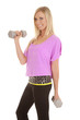woman with pink top lifting