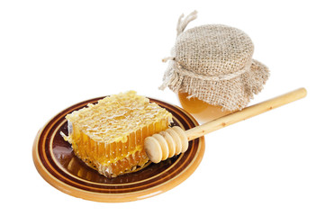 honeycomb  on plate