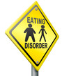 Постер, плакат: eating disorder anorexia and obesity