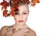 Hübsche Frau mit Herbst Feeling