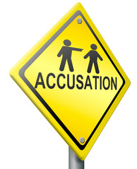 accusation by pointing finger