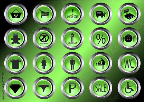 shopping mall icons vector illustration symbol