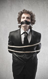 Tied and Gagged Businessman