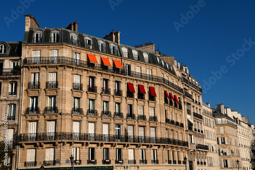 Building, Ile Saint-Louis, paris, France