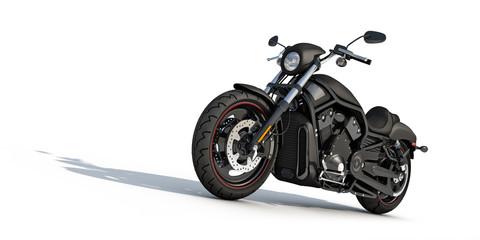 schwarzer motorrad chopper