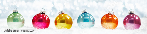 Beautiful shiny Christmas ball banner