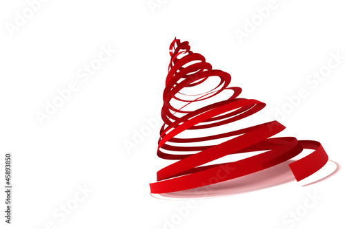 Christmas tree from ribbons