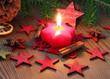 Gemütliche weihnachtsszeitliche Dekoration