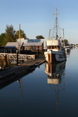 Moored Fishboat, Delta, British Columbia