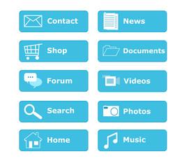 Botones para menú de página Web